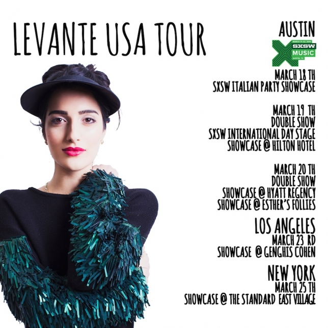 Levante ospite dell' SXSW di Austin, in Texas